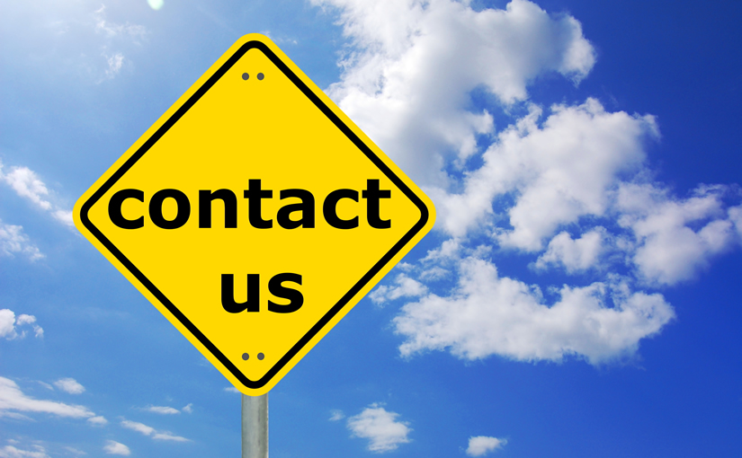 Contact Us on Road Sign